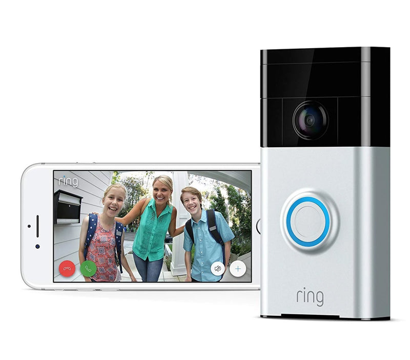 Ring Wi-Fi Enabled Video Doorbell 2 Works with Alexa In Satin Nickel