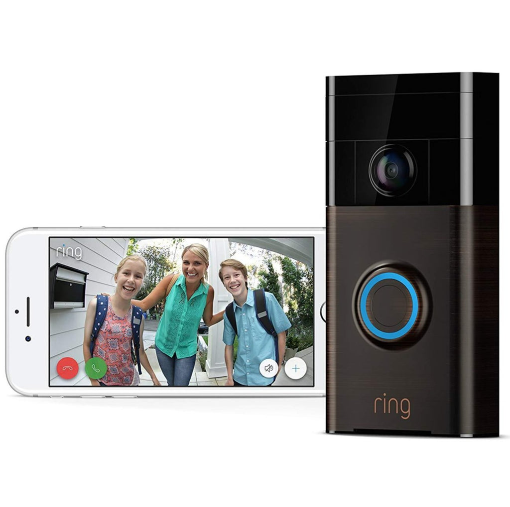 Ring Wi-Fi Enabled Video Doorbell Works with Alexa