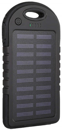 iBoost SPB5000 Solar Smartphone Power Pack Battery Charger in Black