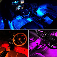 Cool Car RGB LED Strip Lights With Remote in 4 Strips