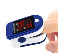 Portable Finger Pulse Oximeter with OLED Display Monitor Finger, Heart Rate Monitor - Blue