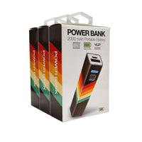 GEMS 2000 mAh Portable Power Bank Multi-Color Stripe