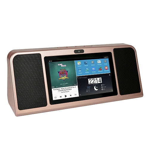 "Azpen A770 7"" Android Internet Radio Tablet w/Bluetooth Speakers (Rose Gold)"