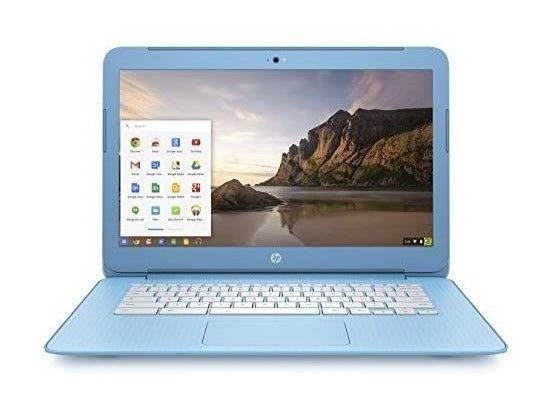 "HP Chromebook F3K86AS#ABA Intel Celeron 2955U X2 1.4GHz 2GB 16GB SSD 14"", Blue"