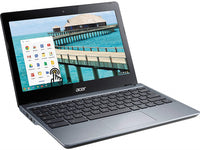 "Acer C720P-2625 Touchscreen Celeron 2955U Dual-Core 1.4GHz 4GB 16GB SSD 11.6"" LED Chromebook"