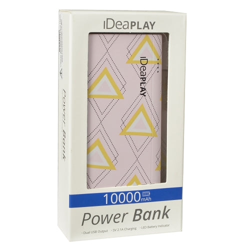iDeaPLAY B100 Dual USB Port 10000mAh Power Bank (Arrow)