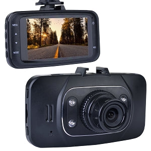 "Automotive 1080p HD Dash Cam with Night Vision, 2.7"" LCD Screen & Windshield Mounting"
