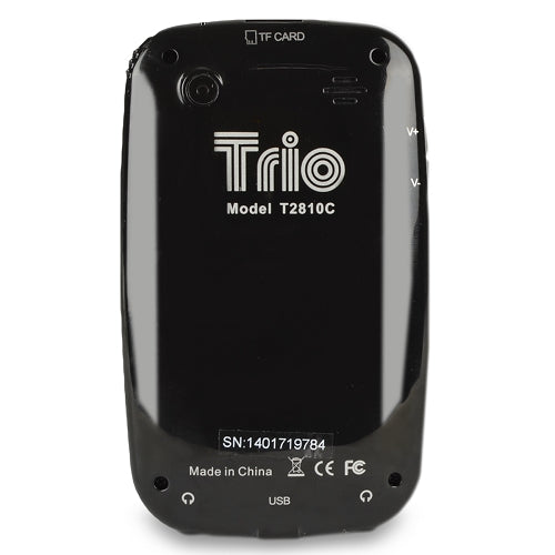 "Trio T2810C 4GB MP3 USB 2.0 Touchscreen Digital Music/Video Player & Voice Recorder w/Camera & 2.8"" LCD in Balck"