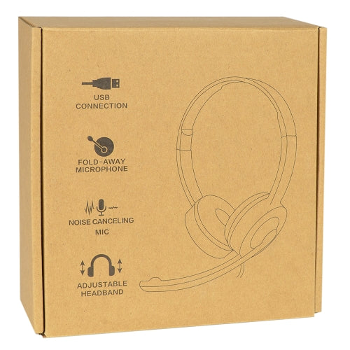USB On-Ear Headset with Fold-Away Noise Canceling Microphone & Inline Controls (Black)