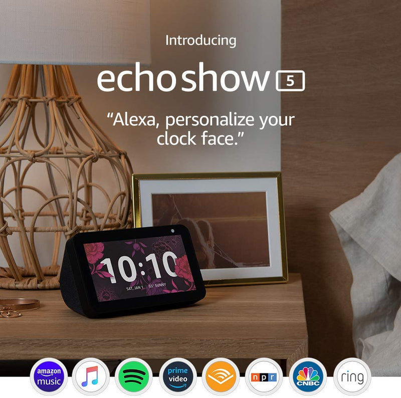 Echo Show 5 Compact Smart Display with Alexa in Charcoal