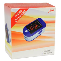 Pulse Oximeter with Digital LED Display & Lanyard (Blue) - JZK-302