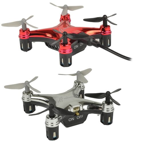 "Micro Quadcopter Drone (1.75"") w/LED Lights & Flip"