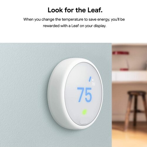 Google Nest Thermostat E - Programmable Smart Thermostat for Home - 3rd Generation (White)