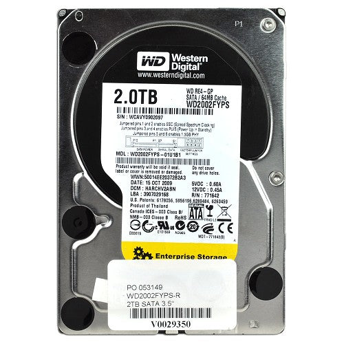 Western Digital RE4-GP Enterprise 2 Terabyte (2TB) SATA/300 IntelliPower 64MB Hard Drive