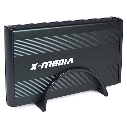 "3.5"" X-Media XM-EN3400-BK USB 2.0 External IDE/SATA HDD Aluminum Enclosure (Black) - Supports up to 4TB!"