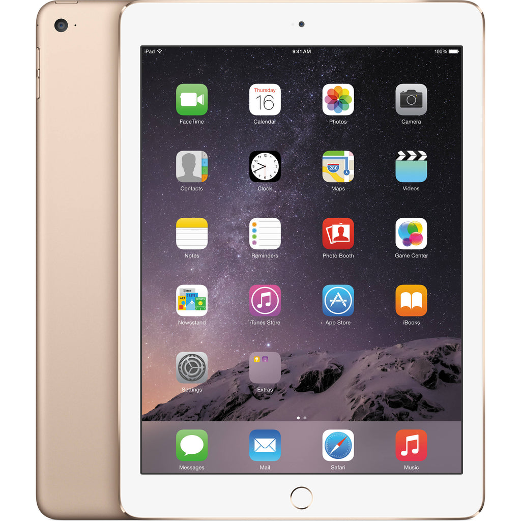 Apple iPad Air 2 9.7 Inch Retina Display 32GB with Wi-Fi + 4G LTE in Gold MNW32LL/A