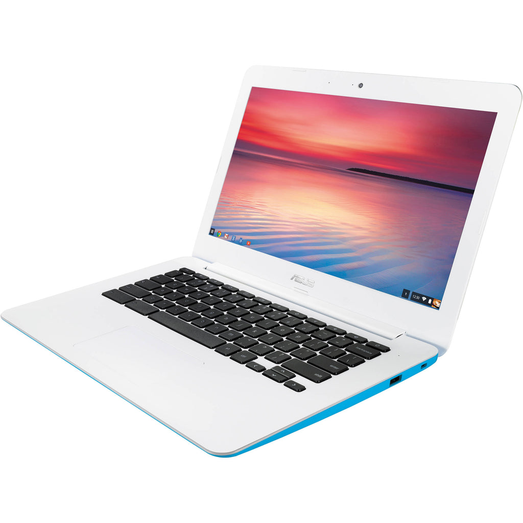 ASUS Chromebook C300MA 13.3 Inch Intel Celeron, 2GB, 16GB SSD, Blue and White (ENGRAVED)