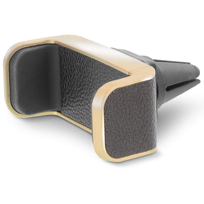 Aduro Vegan Leather Universal Car Vent Mount in Black & Gold
