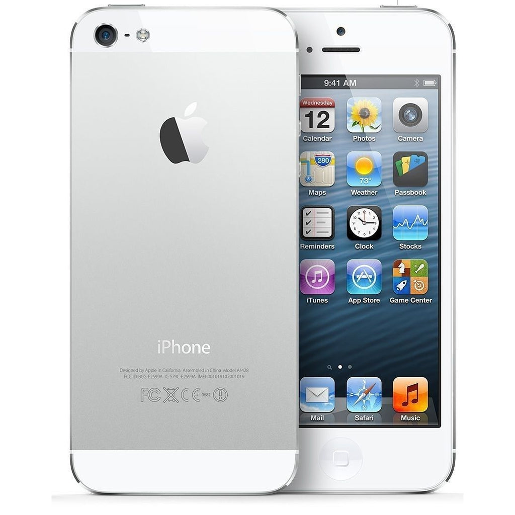 "Apple iPhone 5 - 16GB 4"" White/Silver AT&T"