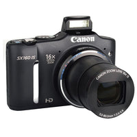 Canon Black PowerShot SX160 IS 16MP & 16x Optical Zoom Digital Camera
