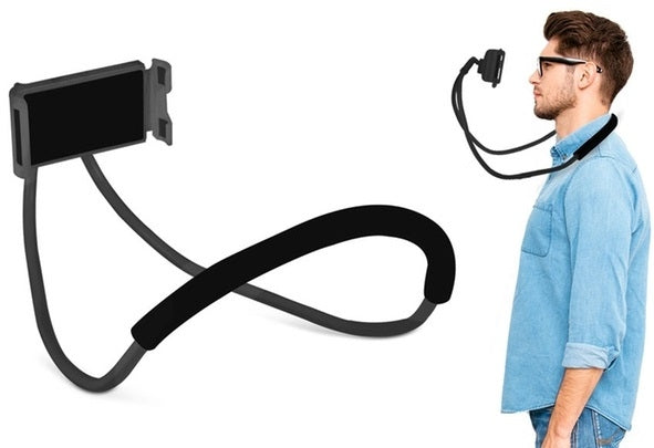 iTD Gear Flexible & Adjustable Neck Hanging Cell Phone Mount Holder for Universal Mobile Devices