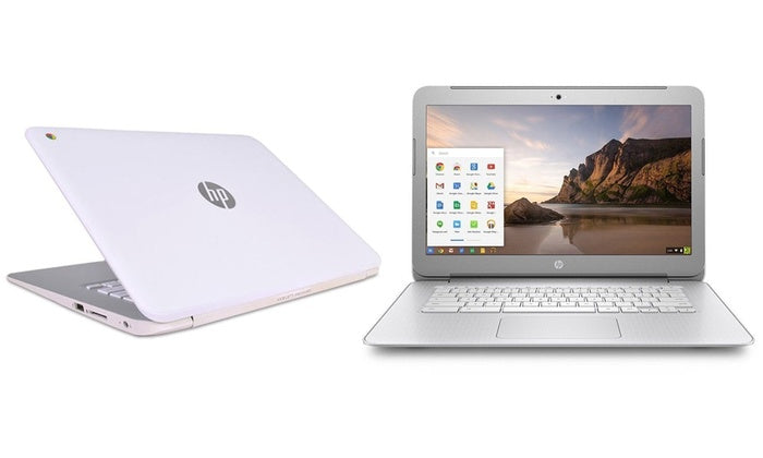 "HP Chromebook 14 G1 Dual-Core 1.4GHz 4GB 16GB  14"" LED Chromebook in White (ENGRAVED)"