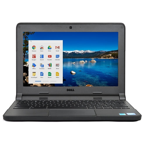 "Dell Chromebook 11-3120 Celeron N2840 Dual-Core 2.16GHz 2GB 16GB eMMC 11.6"" LED  Chrome OS w/Cam & BT (Black)"