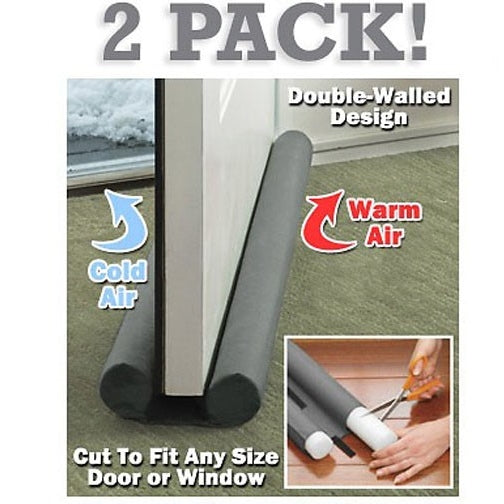 2 Pack of Twin Draft Blockers - Keep In The Heat / Air