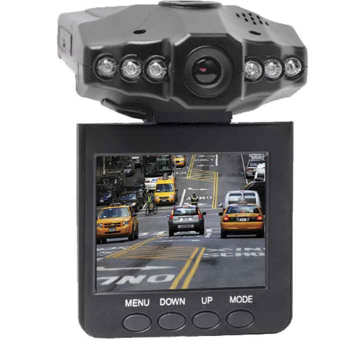 Coby 2.5-Inch Swivel Screen 1080P Car DashCam and DVR Box in Black