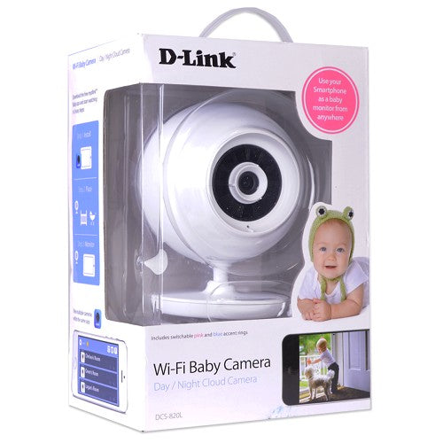 D-Link DCS-820L 480p WiFi BabyCam w/2-way Audio, Night Vision, microSD Card Slot & iOS/Android App Support