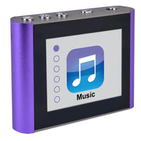 "Eclipse T180 4GB MP3 USB 2.0 Touchscreen Clip Style Digital Music/Video Player w/Voice Recorder, FM & 1.8"" LCD in Purple"