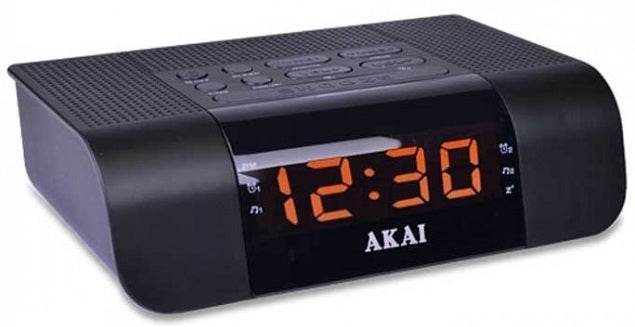 Akai CEU1007 FM PLL Alarm Clock Radio in Black
