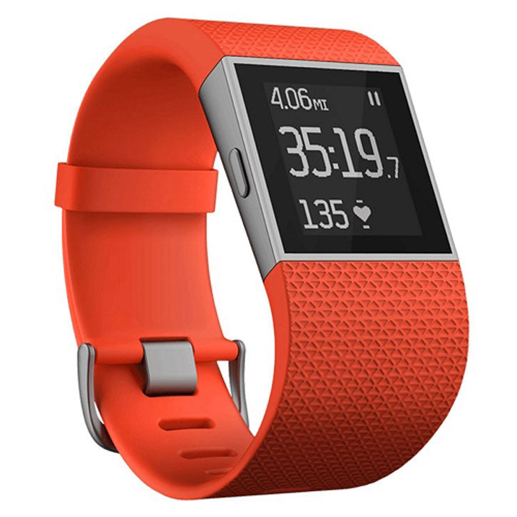 Fitbit Surge Fitness Super Watch w/Wireless Syncing in Large Tangerine