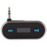 Car FM Transmitter with Bright Blue LCD Display for iPhone