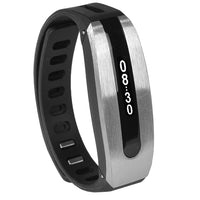 Papago GOLiFE CARE GLCSB-US Smart Fitness Tracker Band w/LED display & Bluetooth Wireless Syncing (Silver/Black)