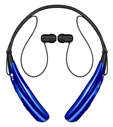 LG Tone PRO Wireless Stereo Bluetooth Headset HBS-750 - Magnetic Earbuds in Blue