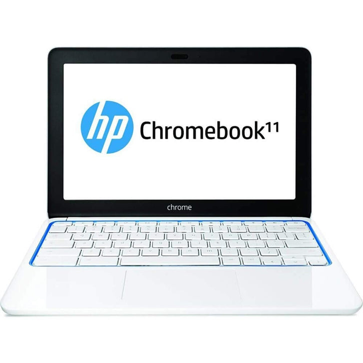"HP 11-1101 Chromebook 11.6"" Display 1.7GHz 2GB 16GB Chrome OS  in White and Blue"