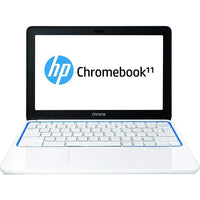 "HP 11-1101 Chromebook 11.6"" Display 1.7GHz 2GB 16GB Chrome OS  in White and Blue (Scratch and Dent)"