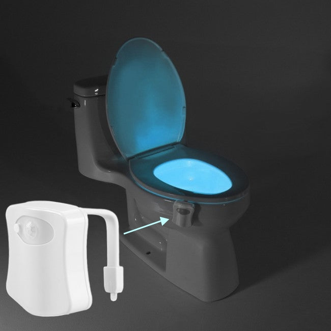 Baytek 8-Color Motion Activated Toilet Nightlight