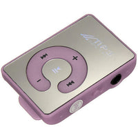 MP3 Player w/SD Card Expansion Slot & Mirror Front in Purple