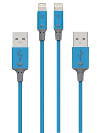 Scosche StrikeLine 3FT Charge and Sync MFI Cable for Lighting Devices in Blue