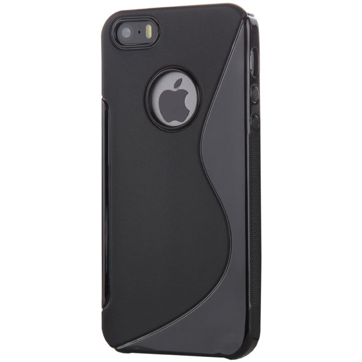 Flexible Two-Tone Finished Apple iPhone 5 Case in Black