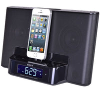 Sony ICFCS15IPN Black iPhone 6/6 Plus/iPod Clock Radio Speaker Dock
