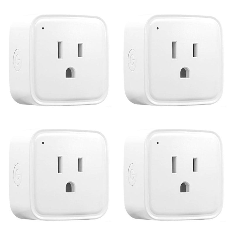 4 Pack: iTD Gear Smart Wifi Plug Compatible with Amazon Alexa & Google Assistant