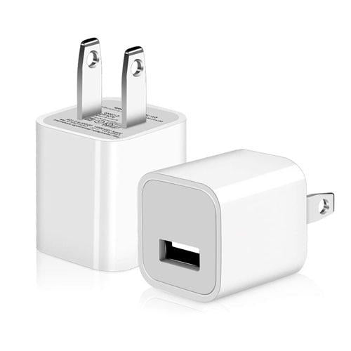 2 Pack: Universal AC USB Wall Charger Cube for for iPhone, iPad, Samsung Phones and More