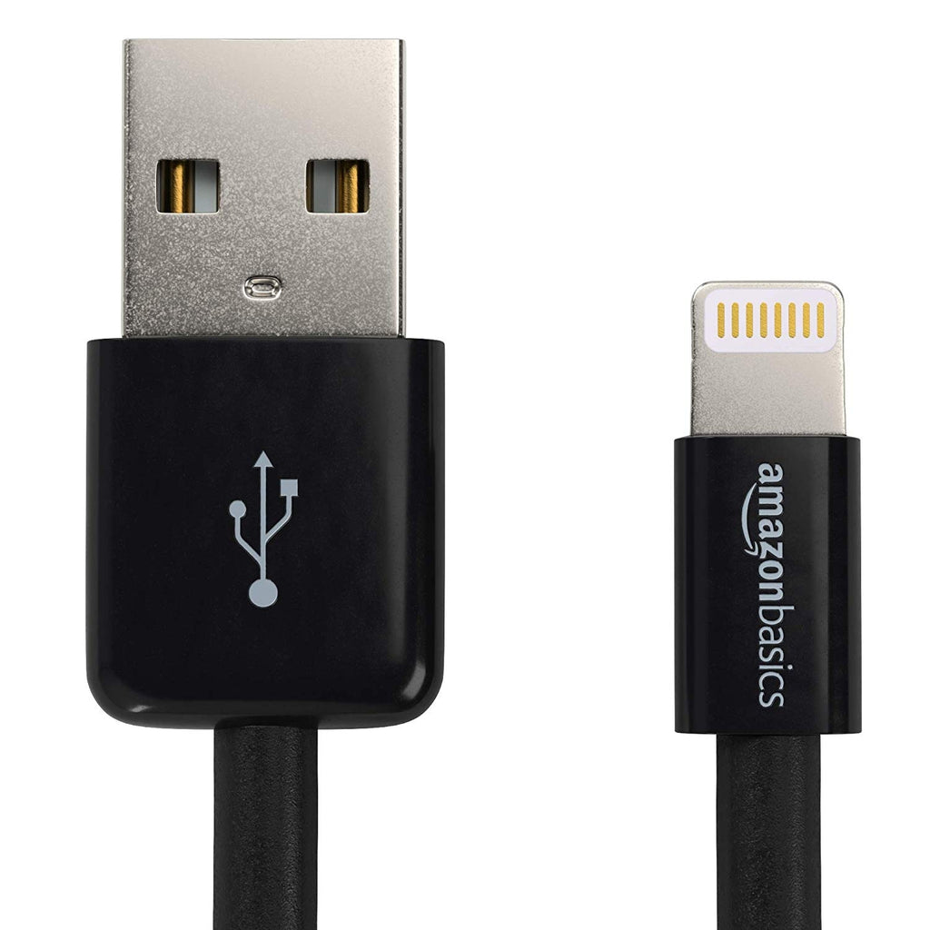 AmazonBasics Lightning to USB A Cable - MFi Certified iPhone Charger 3FT in Black