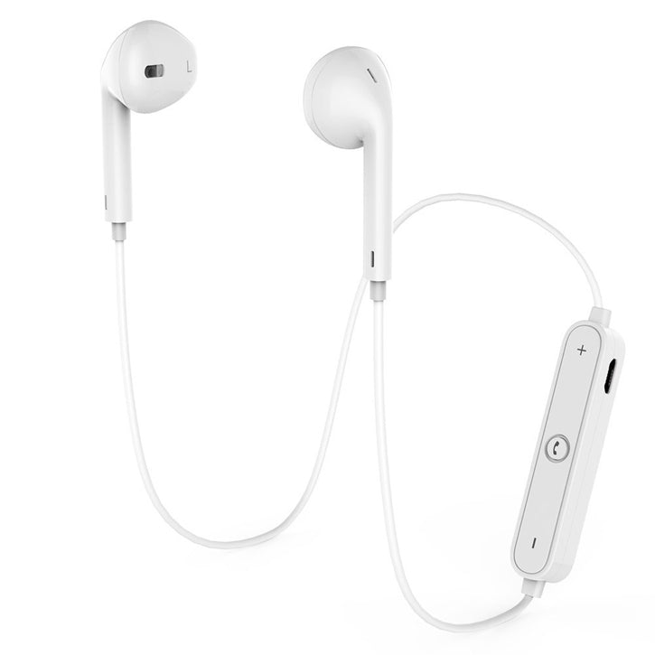 Baytek Wireless Bluetooth 4.1 Noise Cancelling Sweat Proof Earbuds In White