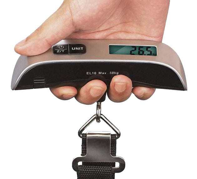 Baytek 110lb Digital Portable Luggage Scale w/LCD Display & Easy-Grip Handle