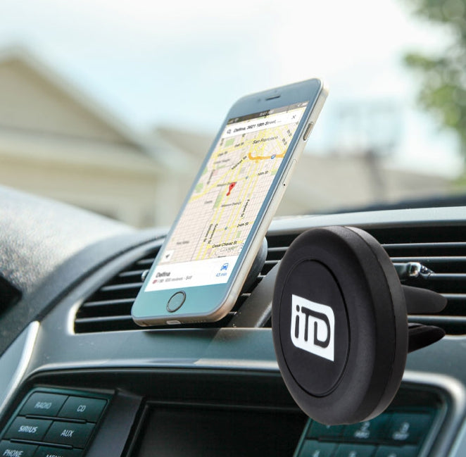 2 Pack: iTD Gear Universal Magnetic Car Vent Mount Holder in Black