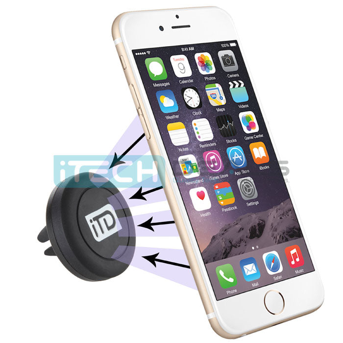 iTD Gear Universal Magnetic Car Vent Mount Holder in Black